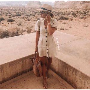 Zara Linen Dress, NWT